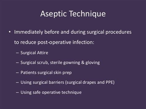 Asepsis and antisepsis