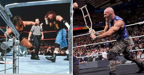 """10 Best """"Hardcore"""" Matches In WWE History 