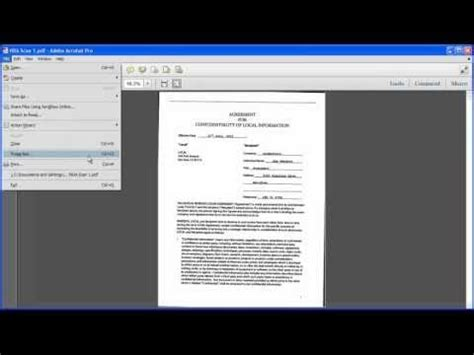 Converting Scanned Documents into a PDF File | Acrobat X
