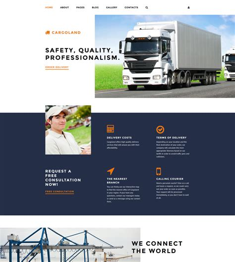 Delivery Services Joomla Template
