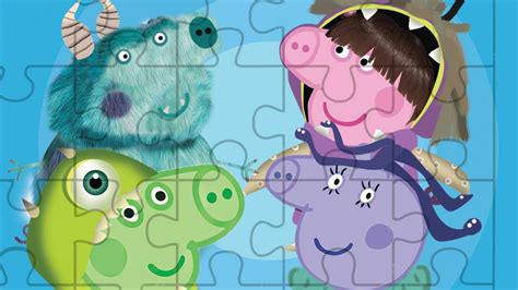ROMPECABEZA PEPPA PIG y MONSTER INC Puzzle Game online
