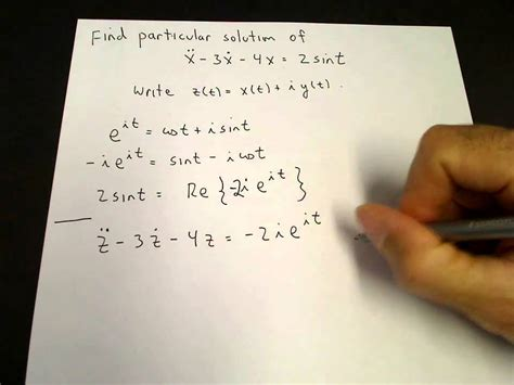 Particular solution for sin using complex exponentials